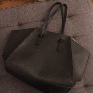 Zara Faux Leather Work Bag/Tote